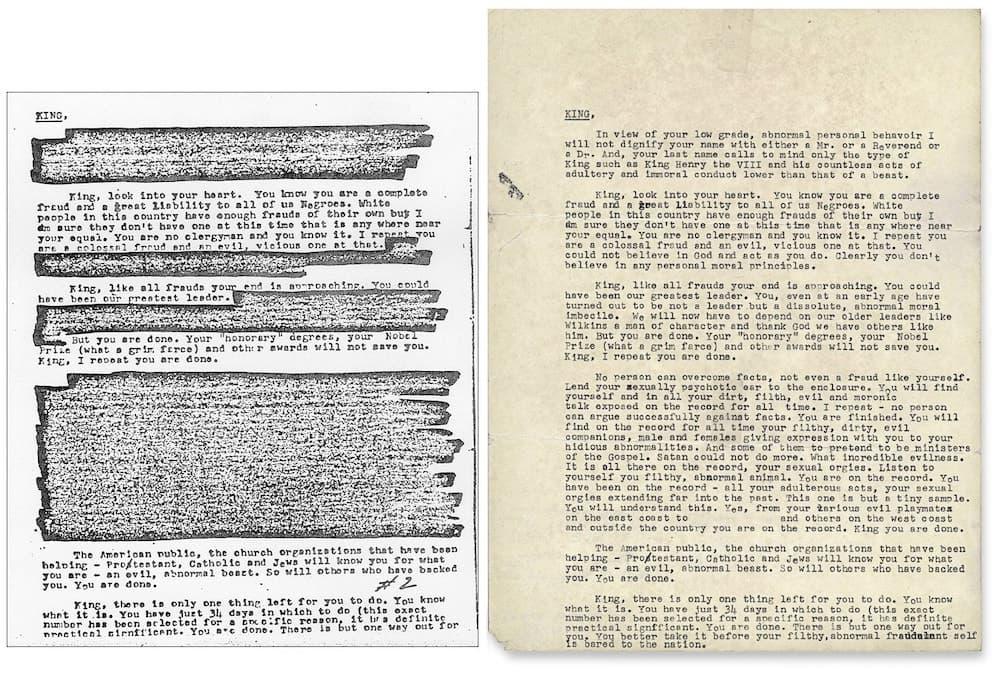 رسالة التهديد المفبركة لمارتن لوثر
