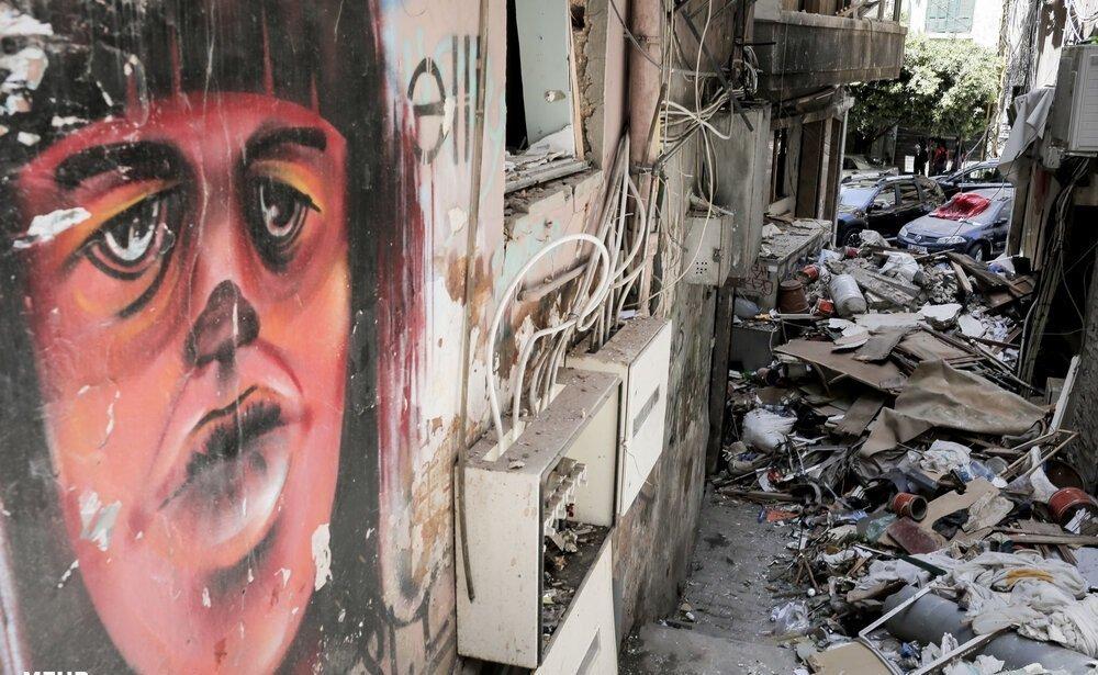 آثار الدمار الناتج عن انفجار بيروت - الحياة اليومية شاهدة على الحدث في وسائل التواصل الاجتماعي